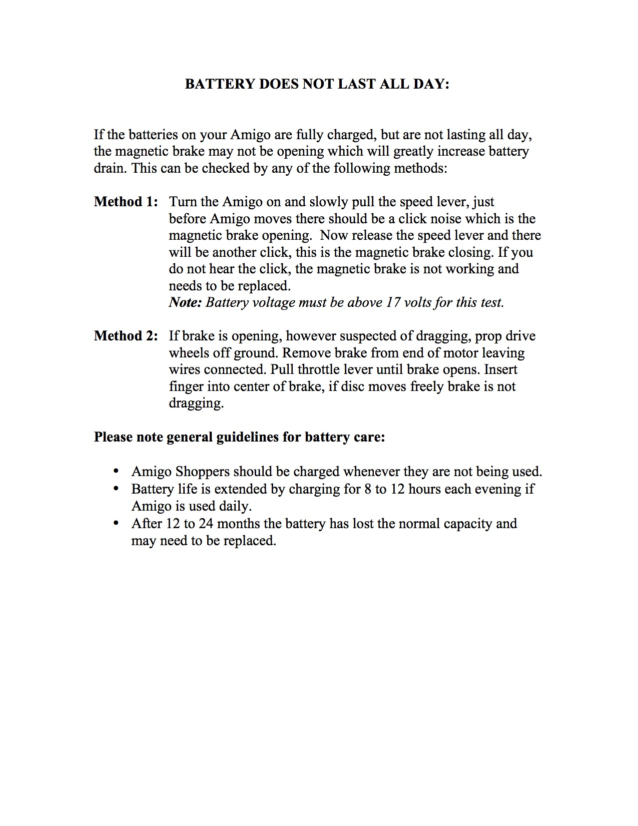 Frequently Asked Questions Amigo Mobility Wiring Diagram To Eliminate Battery Save Does Not Last All Day