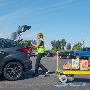 Amigo Mobility curbside pickup cart