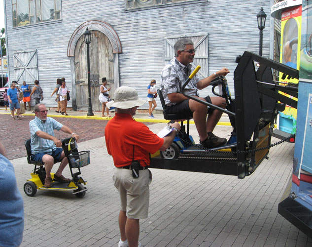 Accessible travel on a mobility scooter