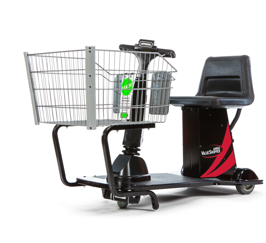 Amigo motorized shopping cart go