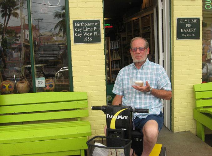 Tom on an Amigo TravelMate scooter
