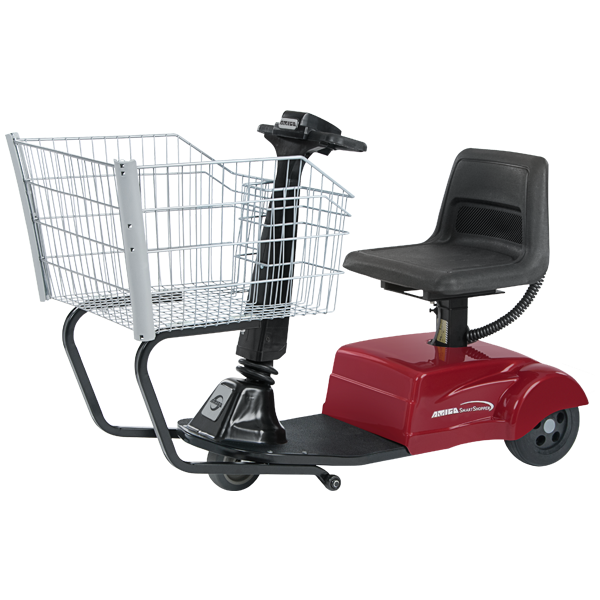 Amigo smartshopper motorized shopping cart with rear drive
