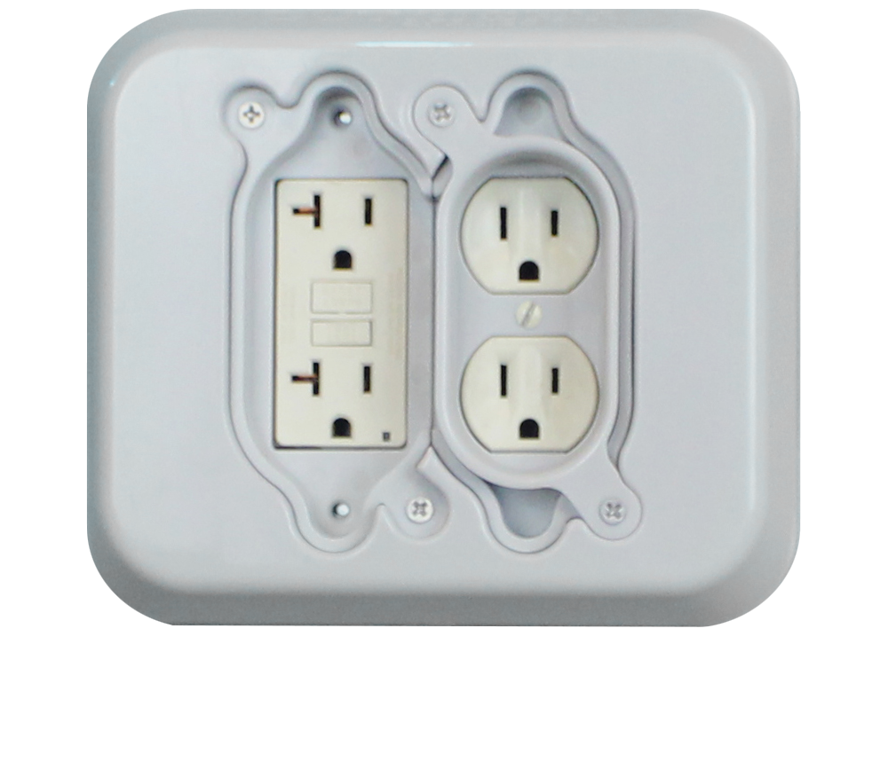 OutRight 2 gang outlet cover