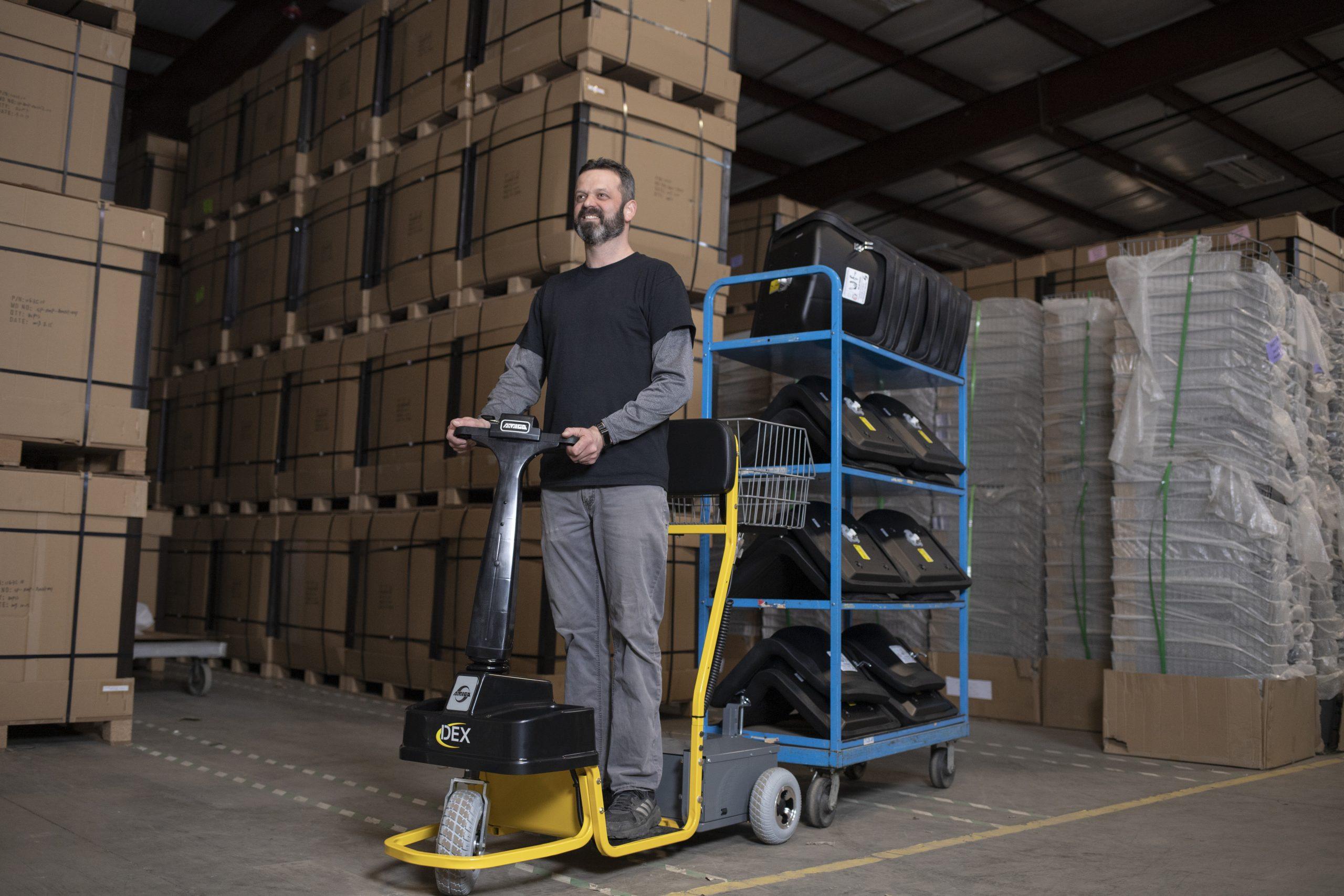 Dex by Amigo electric tugger tows 1,500 lbs