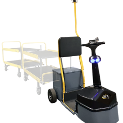 Amigo Mobility mid size tow tractor cart tugger with trailers