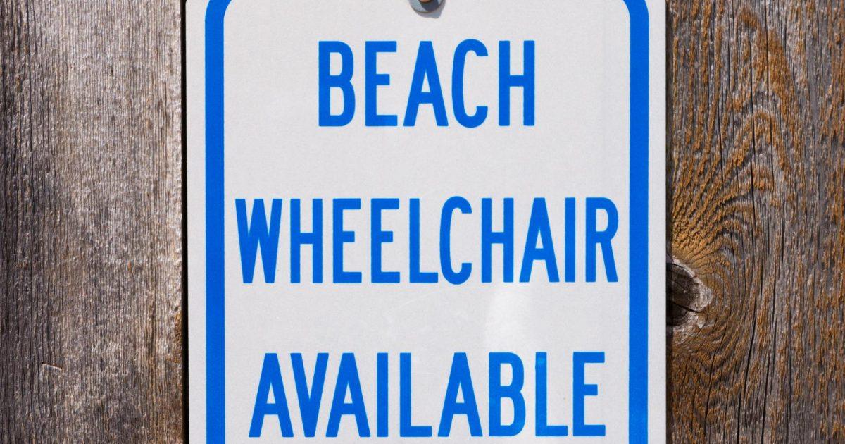 Beach Wheelchair Available Sign