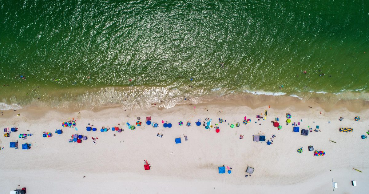 Gulf Shores Drone Shot