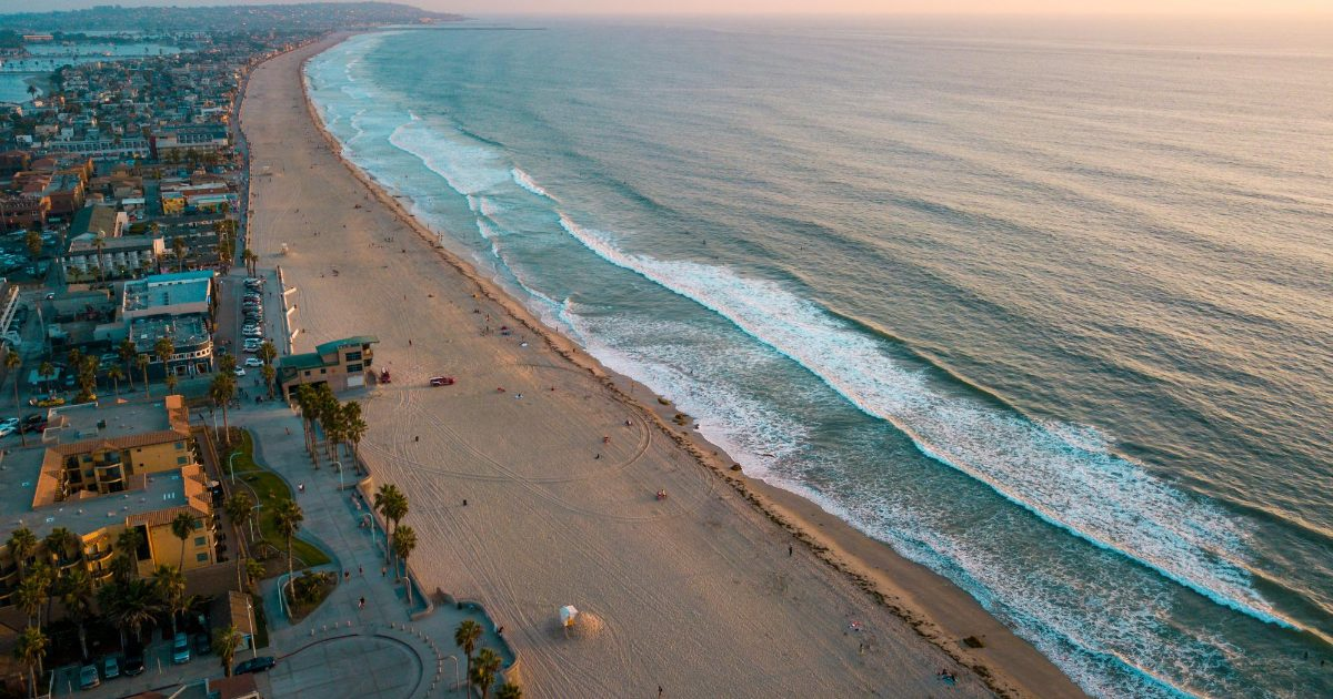 San Diego Beach and City Shot