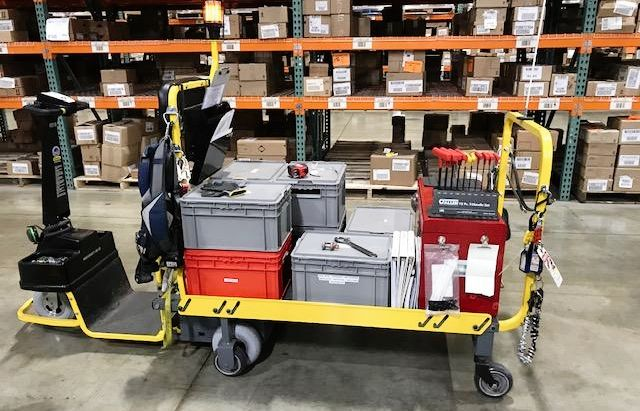 Pictured is the Dex Pro+ being used as a maintenance cart.